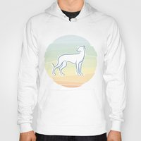 greyhound Hoodies featuring Greyhound by tuditees