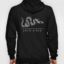 Join or die - white on black version Hoody