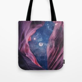 Grand Canyon with Space Collage Tote Bag