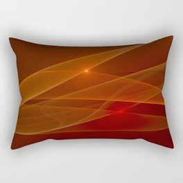 Lights Are Shining, Abstract Fractal Art Rectangular Pillow