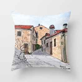 Village in Portugal Throw Pillow