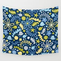 pool Wall Tapestries featuring Tidal Pool by Heather Dutton