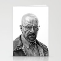walter white Stationery Cards featuring Walter White by robo3687