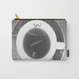 black and white butterfly tea cup Carry-All Pouch