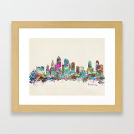 kansas city Missouri skyline Framed Art Print