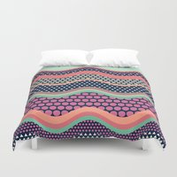yetiland Duvet Covers featuring Patternwork XII by Metron
