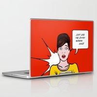 lichtenstein Laptop & iPad Skins featuring Cheryl Carol Charlene Lichtenstein by turantuluy