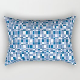 Mod Gingham - Blue Rectangular Pillow