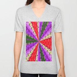 Lacey Kaleidoscope Unisex V-Neck