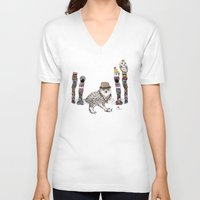 saga V-neck T-shirts featuring Department Store Saga by Olive Primo Design + Illustration