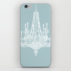 Chic White and Blue Chandelier   iPhone & iPod Skin