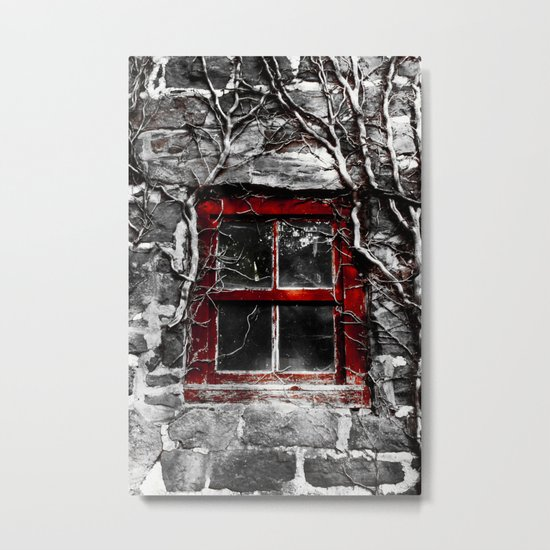 Barn Window Metal Print