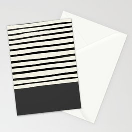 Charcoal Gray x Stripes Stationery Cards