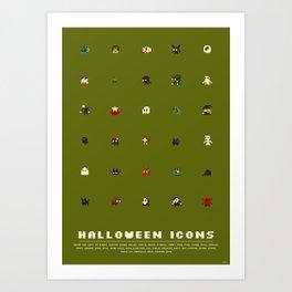 Halloween Icons Art Print
