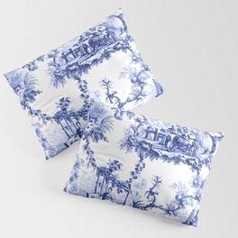 Blue Chinoiserie Toile Pillow Sham
