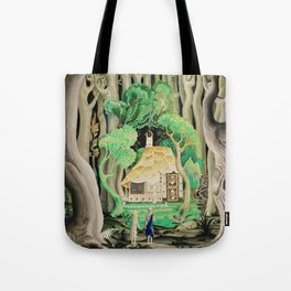 1925 Classical Masterpiece 'Hansel and Gretel by Brothers Grimm' by Kay Nielsen Tote Bag