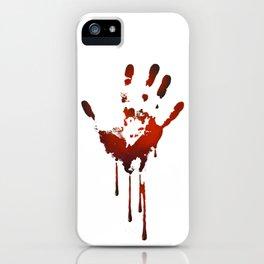 halloween bloody hand iPhone Case