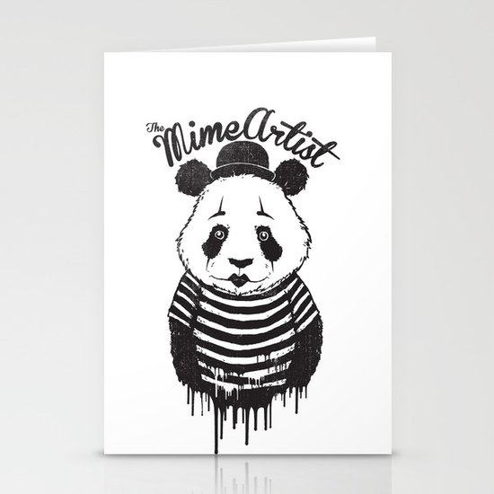 The Mime Artist Stationery Cards