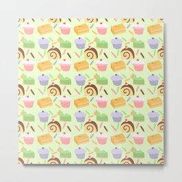 Cute Cake Pattern Metal Print