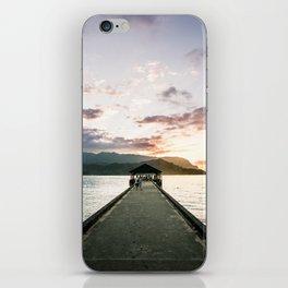 Hanalei Beach Pier iPhone Skin