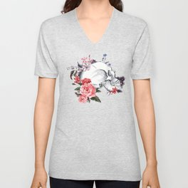 Roses Skull - Death's head Unisex V-Neck