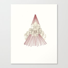 Temporary Mountain Canvas Print
