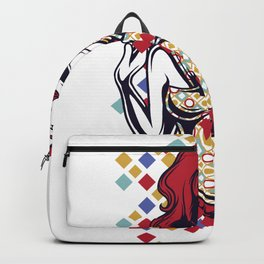 Red Haired Savvy Lady Backpack
