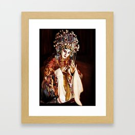 LESLIE CHEUNG in Farewell my Concubine, Chinese Opera portrait, Watercolor painting Framed Art Print