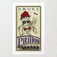 Smoke Pitillos Art Print