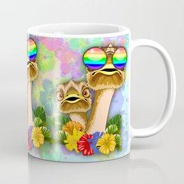 Ostrich Hawaii Fashion Funny Dudes Coffee Mug