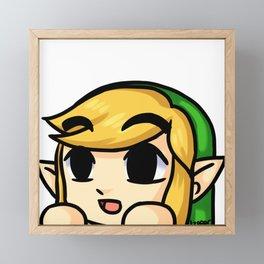 Link Lurk Framed Mini Art Print