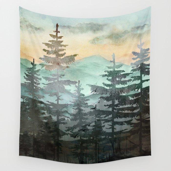 Pine Trees Wandbehang