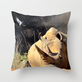 the trainer Throw Pillow