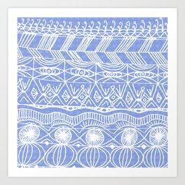 Periwinkle Blanket Art Print