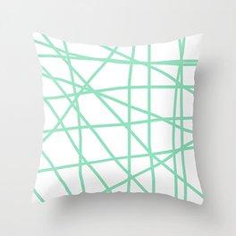 Doodle (Mint & White) Throw Pillow