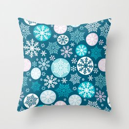 Magical snowflakes IV Throw Pillow