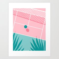 Jock - tennis sport retro neon throwback palm springs los angeles hollywood california sunny pop art Art Print