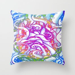 Candy Shop Tentacles Throw Pillow