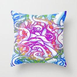Candy Shop Tentacles Throw Pillow