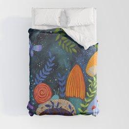 mushroom magic Duvet Cover