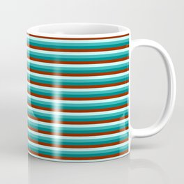 Green and Red Stripes Coffee Mug