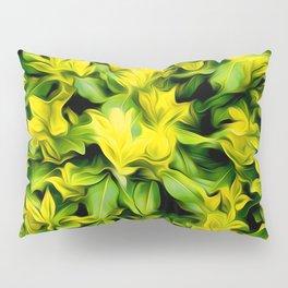 Painted Foliage Pillow Sham