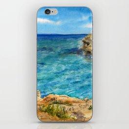 Watercolor sea of Cyprus iPhone Skin