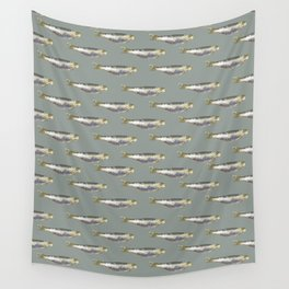 Anchovies Group Print Pattern Wall Tapestry
