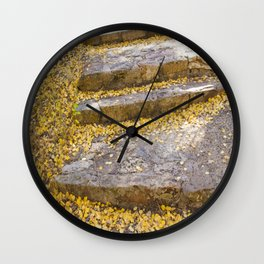 Golden Stairs Wall Clock