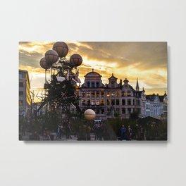Steampunk Sunset Metal Print