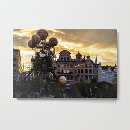 Steampunk Sunset Metal Print
