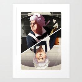 Mrs White Art Print