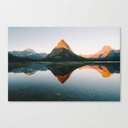 Sunrise at Swiftcurrent Lake Canvas Print