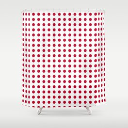 Abstract from the flag of japan – japanese,red,sun,asia,nippon,tokyo,edo,osaka,nagoya,ikebana,noh. Shower Curtain